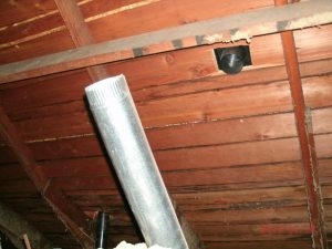 Dryer vent disconnected in an attic
